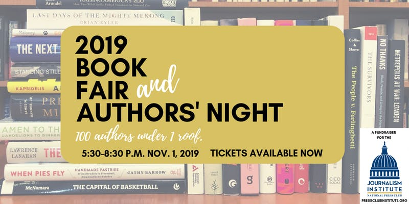 We're Heading to the Press Club Journalism Institute's 42nd Annual Book Fair & Authors' Night!